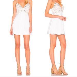 Majorelle White Embellished dress